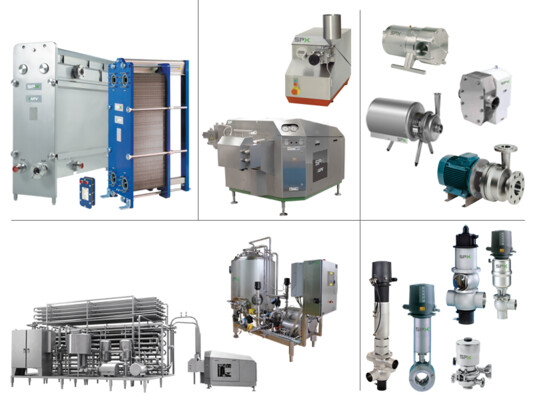 Heat Exchangers, Pumps, Valves, Mixers, Dissolvers and Homogenizers
